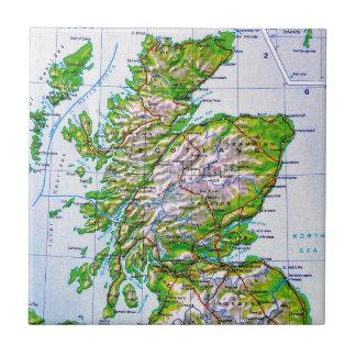 Mapa del vintage de las Islas Orcadas de Escocia Tejas Ceramicas