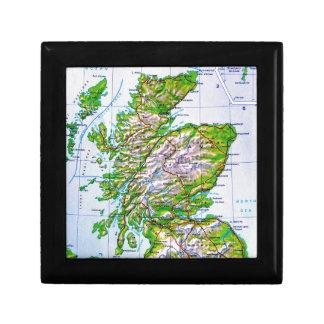 Mapa del vintage de las Islas Orcadas de Escocia Cajas De Joyas