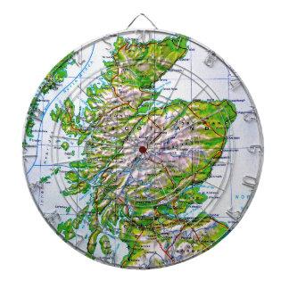 Mapa del vintage de las Islas Orcadas de Escocia Tablero De Dardos