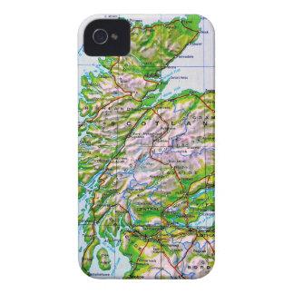 Mapa del vintage de las Islas Orcadas de Escocia iPhone 4 Case-Mate Carcasa