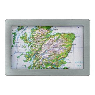 Mapa del vintage de las Islas Orcadas de Escocia Hebilla Cinturón