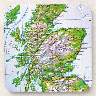 Mapa del vintage de las Islas Orcadas de Escocia Posavasos De Bebida
