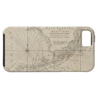 Mapa del vintage de las llaves de la Florida (1771 iPhone 5 Case-Mate Cárcasa