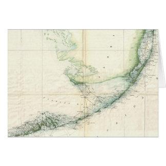 Mapa del vintage de las llaves de la Florida (1859 Tarjeta De Felicitación