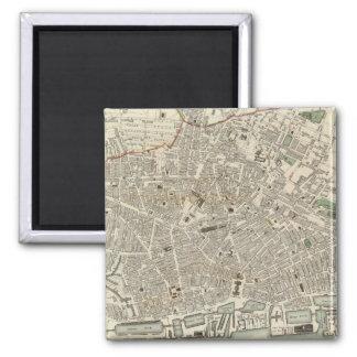 Mapa del vintage de Liverpool Inglaterra 1836 Imán De Frigorifico