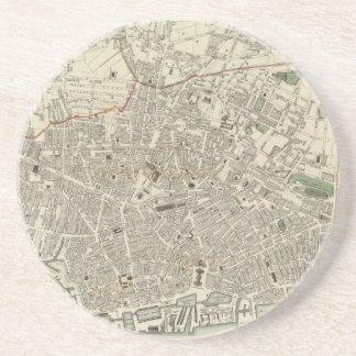 Mapa del vintage de Liverpool Inglaterra (1836) Posavasos Manualidades