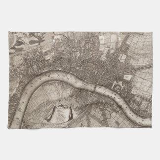Mapa del vintage de Londres (1693) Toalla