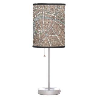 Mapa del vintage de Londres (1923) Lámpara De Mesa