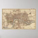 Mapa del vintage de Londres Inglaterra (1807) Impresiones