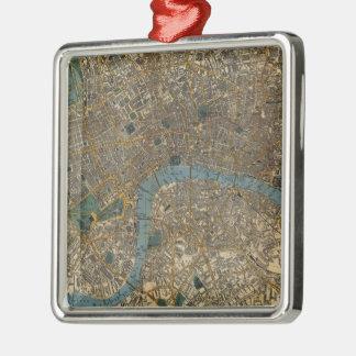 Mapa del vintage de Londres Inglaterra (1860) Ornamentos De Reyes