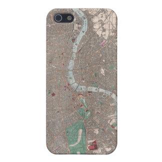 Mapa del vintage de Londres Inglaterra 1862 iPhone 5 Carcasa