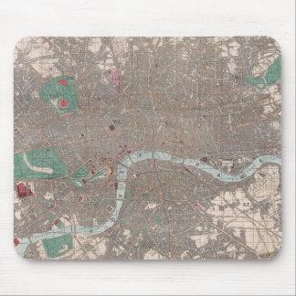 Mapa del vintage de Londres Inglaterra (1862) Alfombrillas De Raton