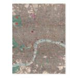Mapa del vintage de Londres Inglaterra (1862) Tarjetas Postales
