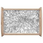 Mapa del vintage de Londres Inglaterra (1911) Bandeja
