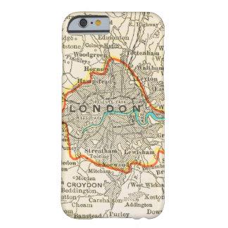 Mapa del vintage de LONDRES INGLATERRA Funda De iPhone 6 Barely There