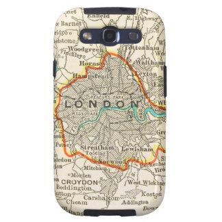 Mapa del vintage de LONDRES INGLATERRA Samsung Galaxy SIII Funda