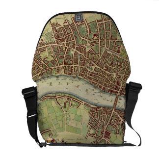 Mapa del vintage de Londres (siglo XVII) Bolsas De Mensajeria