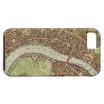 Mapa del vintage de Londres (siglo XVII) iPhone 5 Case-Mate Protector