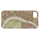 Mapa del vintage de Londres (siglo XVII) iPhone 5 Case-Mate Fundas