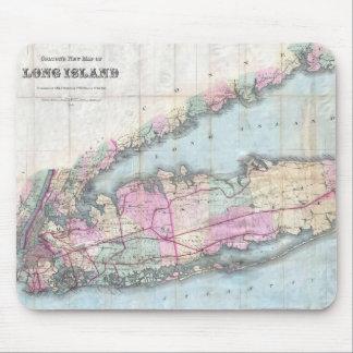 Mapa del vintage de Long Island (1880) Tapete De Ratones
