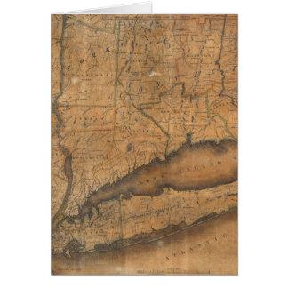 Mapa del vintage de Long Island y de Connecticut ( Tarjeta De Felicitación