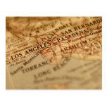 Mapa del vintage de LOS ÁNGELES Tarjetas Postales