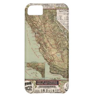 Mapa del vintage de los caminos de California