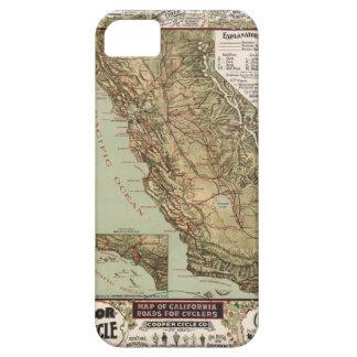 Mapa del vintage de los caminos de California iPhone 5 Case-Mate Protector