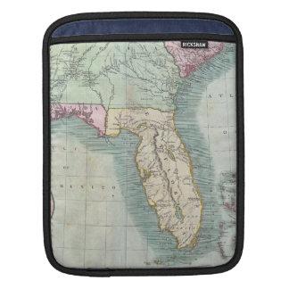Mapa del vintage De los E.E.U.U. del sudeste (1806 Fundas Para iPads