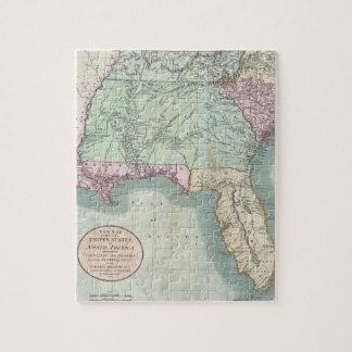 Mapa del vintage De los E.E.U.U. del sudeste (1806 Puzzle