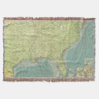 Mapa del vintage De los E.E.U.U. del sudeste Ports Manta