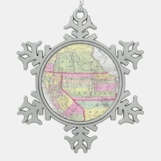 Mapa del vintage de los Estados Unidos Adorno