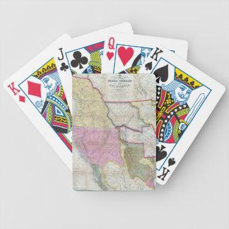 Mapa del vintage de los Estados Unidos Baraja Cartas De Poker