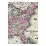 Mapa del vintage de los Estados Unidos del este (1 Tarjeta