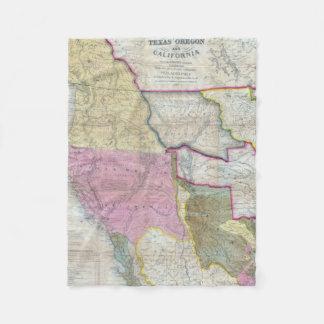Mapa del vintage de los Estados Unidos Manta De Forro Polar