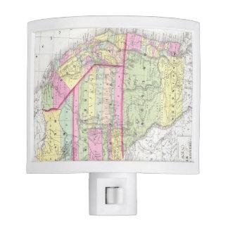 Mapa del vintage de los Estados Unidos occidentale Lámparas De Noche