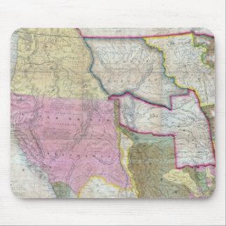 Mapa del vintage de los Estados Unidos occidentale Mousepads
