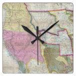 Mapa del vintage de los Estados Unidos occidentale Relojes