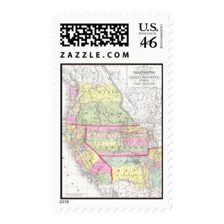Mapa del vintage de los Estados Unidos occidentale