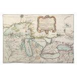 Mapa del vintage de los Great Lakes (1755) Manteles