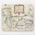 Mapa del vintage de los Great Lakes (1755) Alfombrillas De Ratón