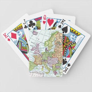 Mapa del vintage de los pasteles coloridos de Euro Baraja Cartas De Poker