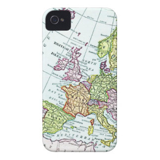 Mapa del vintage de los pasteles coloridos de Euro Case-Mate iPhone 4 Funda