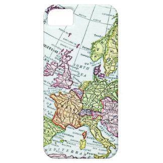 Mapa del vintage de los pasteles coloridos de Euro iPhone 5 Coberturas
