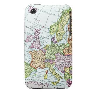 Mapa del vintage de los pasteles coloridos de Euro iPhone 3 Protectores
