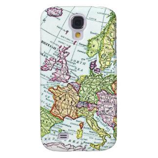 Mapa del vintage de los pasteles coloridos de Euro