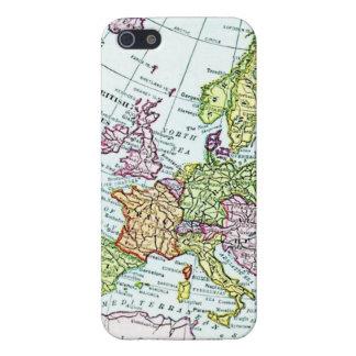 Mapa del vintage de los pasteles coloridos de Euro iPhone 5 Fundas