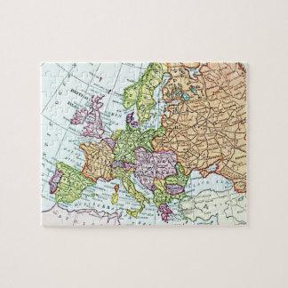 Mapa del vintage de los pasteles coloridos de Euro Rompecabezas Con Fotos