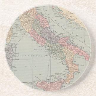 Mapa del vintage de los prácticos de costa de Ital Posavasos Cerveza