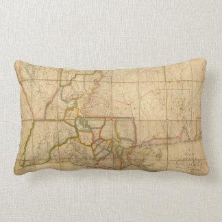 Mapa del vintage de Luisiana 1816 Cojines